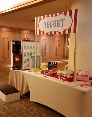 Thumb yogurt station using soft served machine with carnival theme